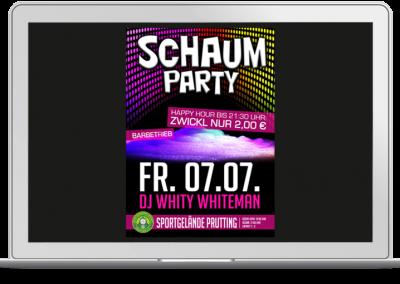 Plakat Schaumparty