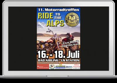 Plakatdesign Motorradclub