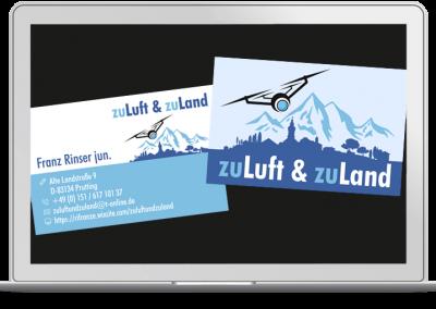 Visitenkarten zu Luft und zu Land